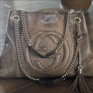 Gucci Chain Strap Shoulder Bag Python (MINT)
